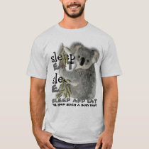 Cute Koala Eat And Sleep T-Shirt