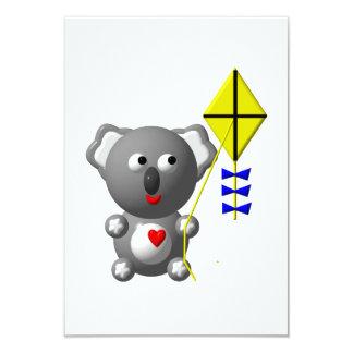 Cute Koala flying a kite Announcement