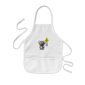 Cute Koala flying a kite Kids' Apron