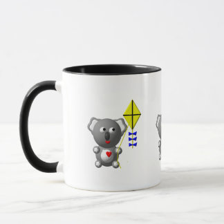 Cute Koala flying a kite Mug