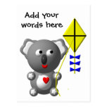Cute Koala flying a kite Postcard