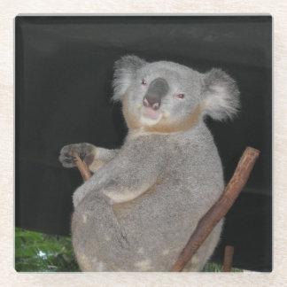 Cute Koala Glass Coaster