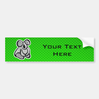 Cute Koala; Green Bumper Sticker