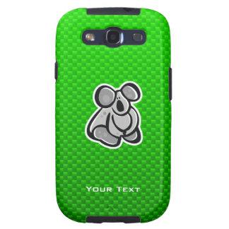 Cute Koala; Green Galaxy S3 Covers