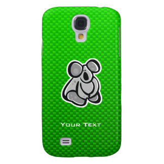 Cute Koala; Green Samsung Galaxy S4 Cases