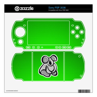 Cute Koala; Green Decal For The PSP 3000