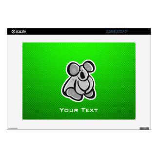 "Cute Koala; Green Decals For 15"" Laptops"