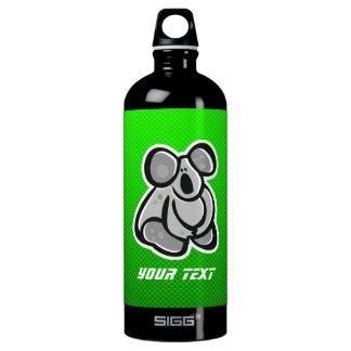 Cute Koala; Green Water Bottle