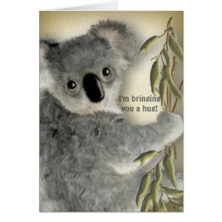 Cute Koala Hug Card