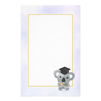 Cute Koala in a Black Graduation Cap Stationery