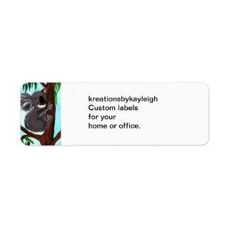 Cute Koala Label