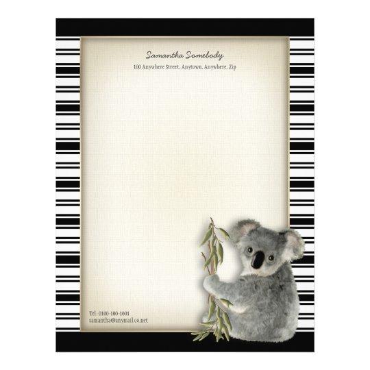 Cute Koala Letterhead