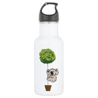 Cute Koala on the Tree Stainless Steel Water Bottle