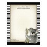 Cute Koala Personalized Letterhead