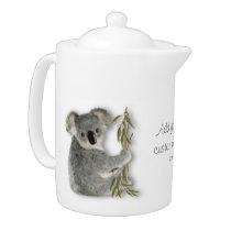 Cute Koala Personalized Teapot
