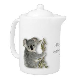 Cute Koala Personalized Teapot at Zazzle