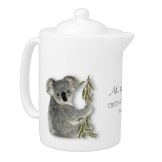 Cute Koala Personalized Teapot