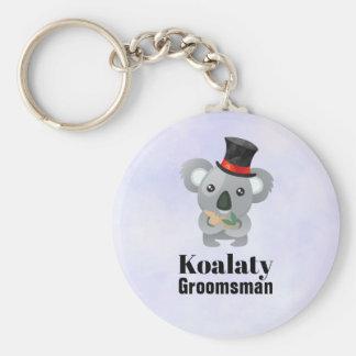 Cute Koala Pun Koalaty Groomsman Keychain