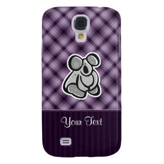 Cute Koala; Purple Galaxy S4 Cover