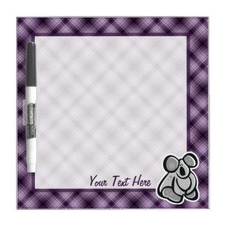 Cute Koala; Purple Dry-Erase Board