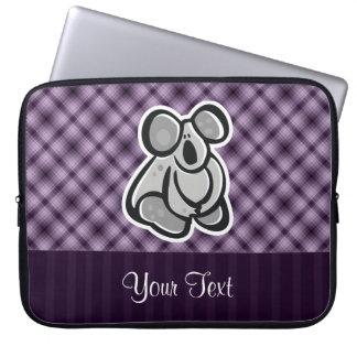 Cute Koala; Purple Laptop Computer Sleeve