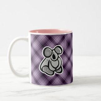 Cute Koala; Purple Two-Tone Coffee Mug