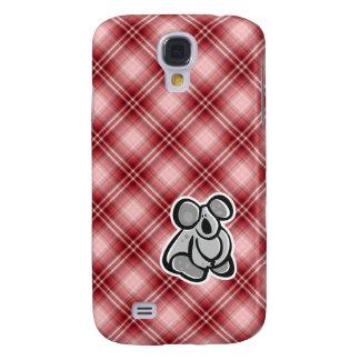 Cute Koala; Red Plaid Samsung Galaxy S4 Covers