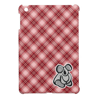 Cute Koala; Red Plaid iPad Mini Covers