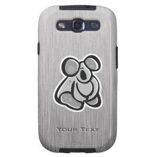 Cute Koala; Silver Galaxy S3 Covers