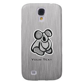 Cute Koala; Silver Samsung Galaxy S4 Cover