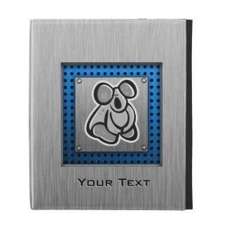 Cute Koala; Silver iPad Folio Cover