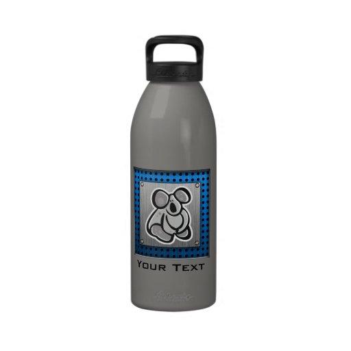 Cute Koala; Silver Water Bottle