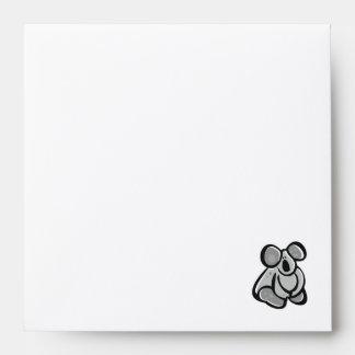Cute Koala; Sleek Envelope