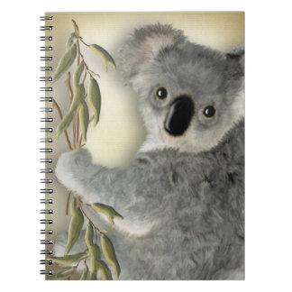 Cute Koala Spiral Notebook