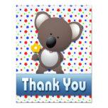 "CUTE KOALA THANK YOU NOTE CARD 4.25"" X 5.5"" INVITATION CARD"