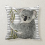 Cute Koala Throw Pillow