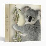Cute Koala Vinyl Binder