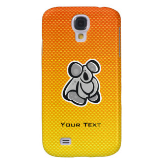 Cute Koala; Yellow Orange Samsung Galaxy S4 Case