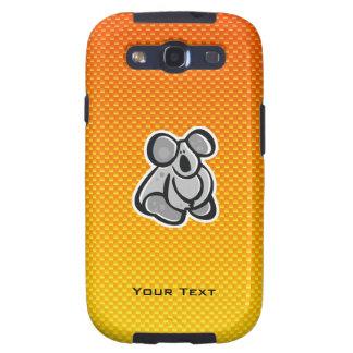 Cute Koala; Yellow Orange Galaxy S3 Case