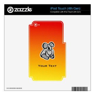 Cute Koala; Yellow Orange Decal For iPod Touch 4G