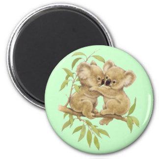 Cute Koalas 2 Inch Round Magnet
