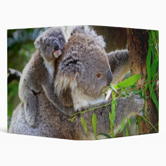 Cute Koalas 3 Ring Binder