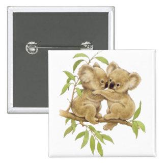 Cute Koalas 2 Inch Square Button