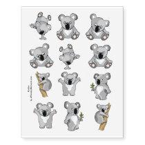 Cute Koalas for Kids Temporary Tattoos