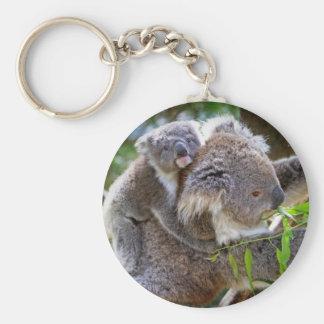 Cute Koalas Basic Round Button Keychain