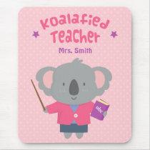 Cute Koalified Koala Bear Female Teacher Pun Humor Mouse Pad