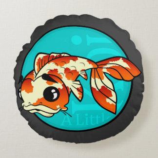 CUTE KOI FISH GRAPHIC ROUND THROW PILLOW