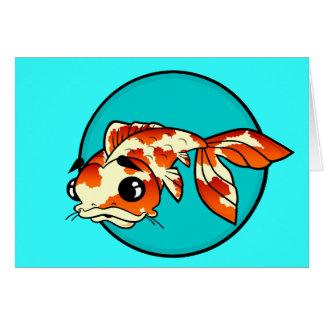 CUTE KOI FISH GREETING CARD