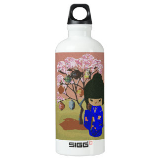 Cute kokeshi Doll with cherry blossom tree SIGG Traveler 0.6L Water Bottle