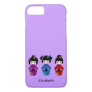 Cute kokeshi dolls cartoon name iPhone 7 case